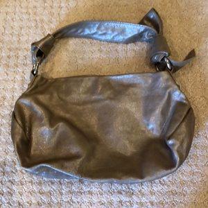 Silver gray Banana Republic purse.
